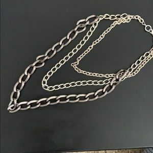 Multi chain necklace. Super cute and trendy.